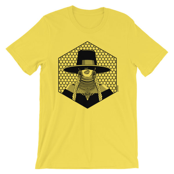 Beyonce t shirt features portrait of Beyonce from Formation video and beehive background. Perfect garment for the On The Run tour.