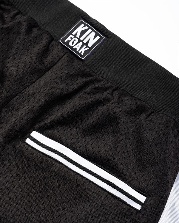 Oakland Basketball Shorts Back Pocket detail