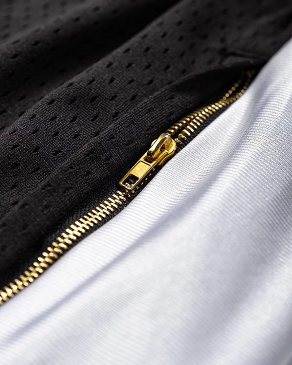 Oakland Basketball Shorts Zipper Detail
