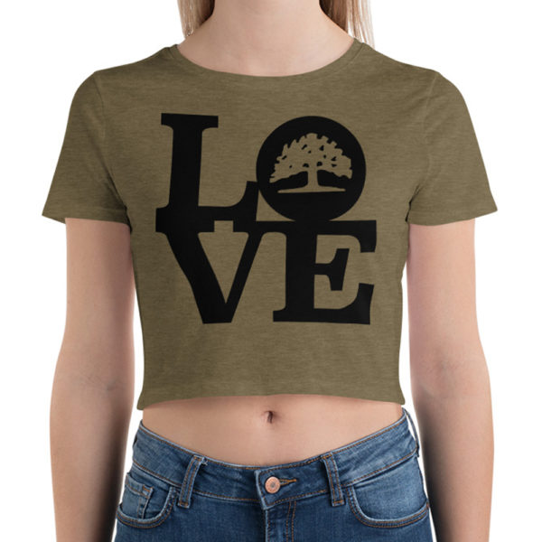 olive green womens crop top